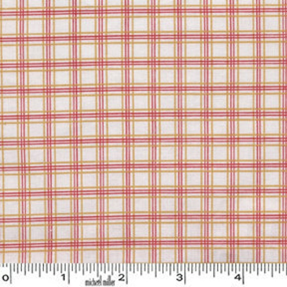Mini MIkes Retro Pencil Check in Red by Michael Miller Fabrics- Half Yard SPECIAL