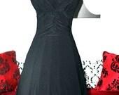 RESERVED for Jennifer.....Black Halter Dress.....Marilyn Monroe Style....Treasure Worthy.....