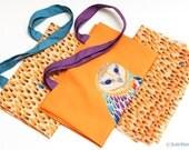"Owl orange handbag ""Russian tiles"" collection"