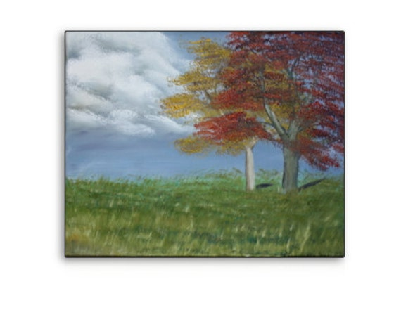 Original Oil Painting Landscape Painting Trees Art on Canvas 16 x 20 by Harshita