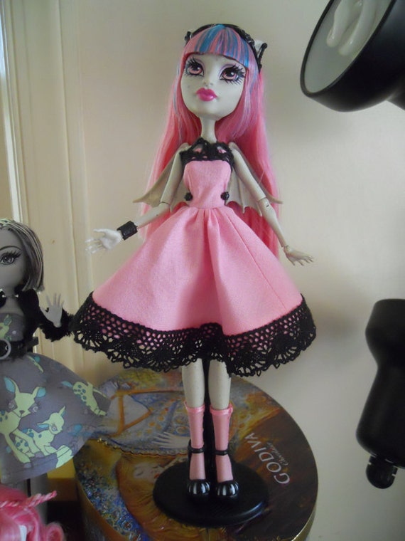 Monster High Pink x Black Lolita Jumperskirt for Rochelle Goyle