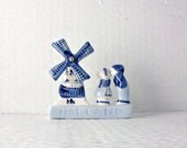 Delft Blue Vintage Holland Souvenir Dutch Windmill