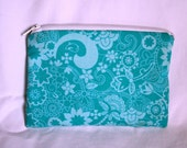 Small Zippered Pouch, iPod or MP3 player pouch, coin purse, cosmetics, purse organizer