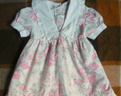 Vintage baby's floral collared dress