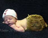 Crochet Baseball Hat Photo prop or personal use