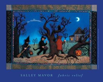HALF PRICE! Halloween Poster-fabric relief children's book art