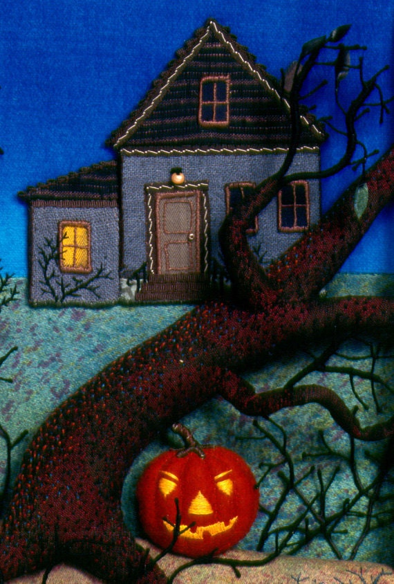 Halloween Poster fabric relief children's book art
