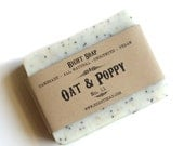 Oat and Poppy Scrub Soap Gift for Her All Natural soap girlfriend gifts Women gift, Gift for mom, Girlfriend gift
