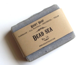 Dead Sea Soap, All Natural soap, Unscented soap, Vegan soap, Detox soap, handmade soaps, homemade soaps, right  soap, gift for him