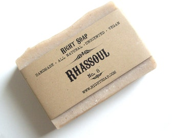 Rhassoul  Soap Bar - Gift For Men, Natural soap, handmade soap, Christmas stocking, Christmas gifts, Stocking stuffers, vegan soap