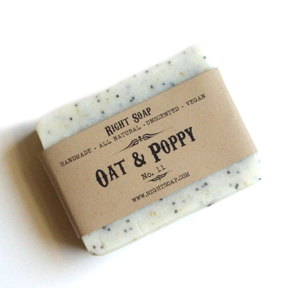 Oat and Poppy Scrub Soap - All Natural soap