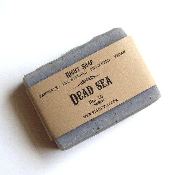 Dead Sea Soap, All Natural soap, Unscented soap, Vegan soap, Detox soap, handmade soaps, homemade soaps, Christmas soap, gift for him