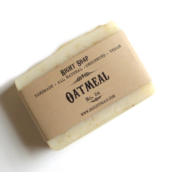 Oatmeal Scrub Soap - Exfoliating soap, All Natural Soap, Unscented Soap, Scrub Soap, Vegan Soap