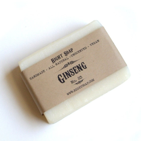 Ginseng Soap Bar - Gift for Boyfriend, Man Soap, Gift for dad, Stocking stuffer, All Natural Soap, Unscented Soap, Handmade Soap