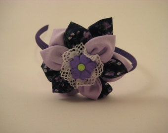 Purple Flower Hairband