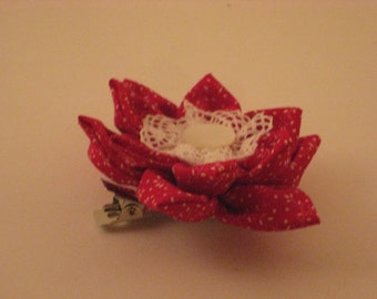 Red Lotus Barrette