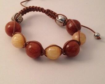 Amber and Ivory Bracelet