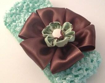 Mint Chocolate Chip Waffle Hairband