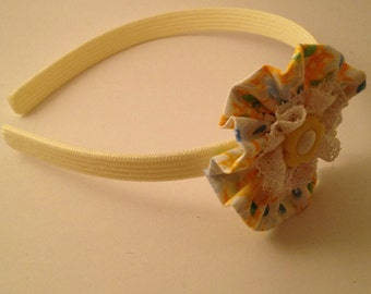 Yellow Florrette Hairband