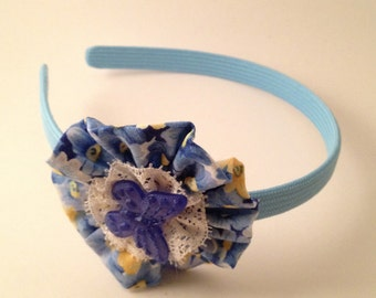 Blue Butterfly Florrette Hairband