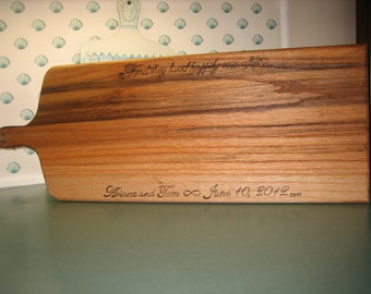 Solid oak cheese/bread board