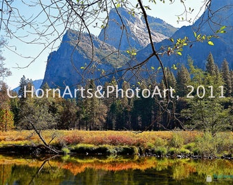 Autumn in Yosemite photo car, Yosemite Valley photo card, Yosemite photo card, blank photo card