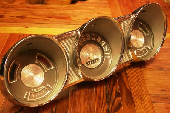 1961 Chrome Ford Falcon Dashboard Gauges/Dials - Industrial