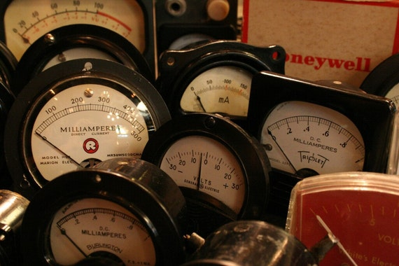 20 Electrical Gauges - Instant Collection of 20 Vintage Miscellaneous Gauges