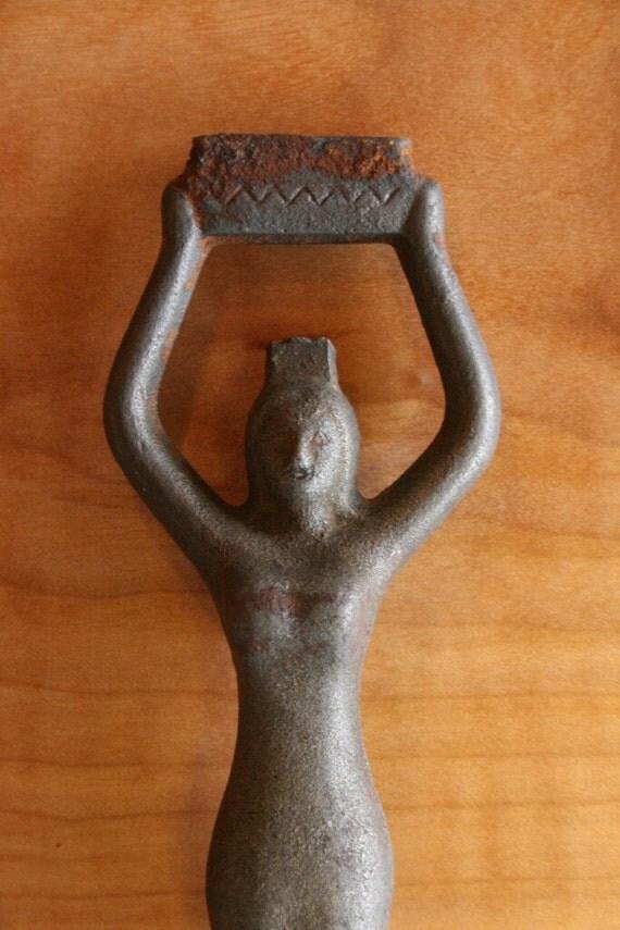 Female Figure Wood/Coal Stove Plate Lifter - Cast Iron