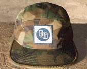 BLD 5 panel Camoflage hat