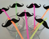 STACHE STRAWS (set of 20 in NEON)
