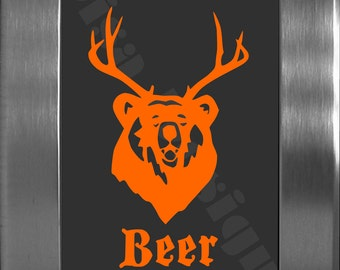 "Our ""Beer"" vinyl decal - Is it a Bear or is it a Deer - No it's a Beer - Car decal"
