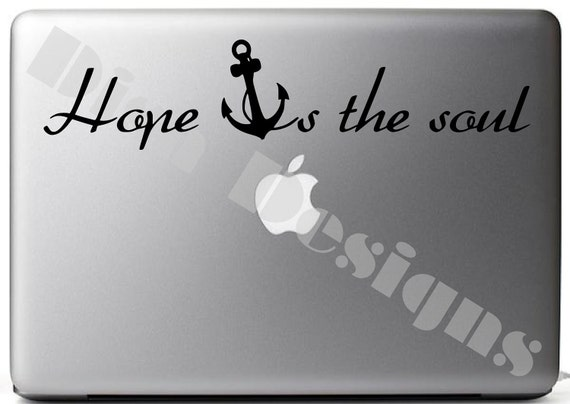 Items similar to hope anchor 39 s the soul vinyl decal on etsy for Hope anchors the soul tattoo
