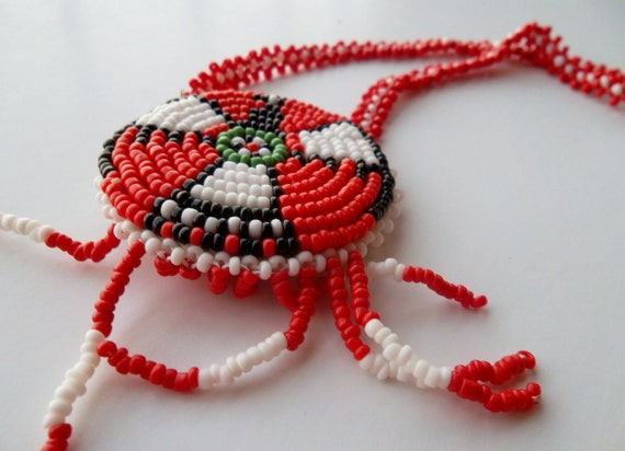 Vintage Handmade Native Seed Bead Necklace