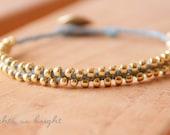 Woven Beaded Friendship Bracelet--BLUE