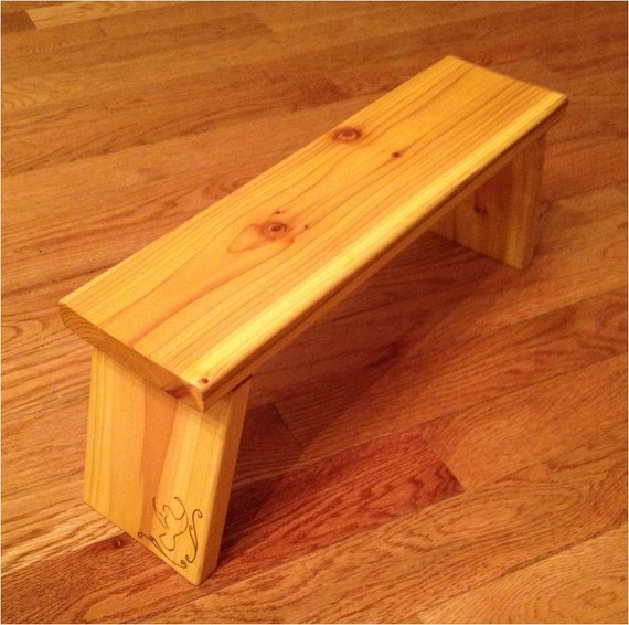 Folding Cedar Prayer Bench With Dove Embellishment