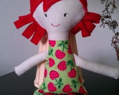 Hand made Red Soft Doll by Beautiful AA