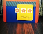 Vibrant Petal Thank You Card