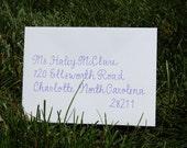 Custom Hand Written Envelope Addressing for Events in 'Haley' Font