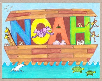Custom Noah's Ark Artwork