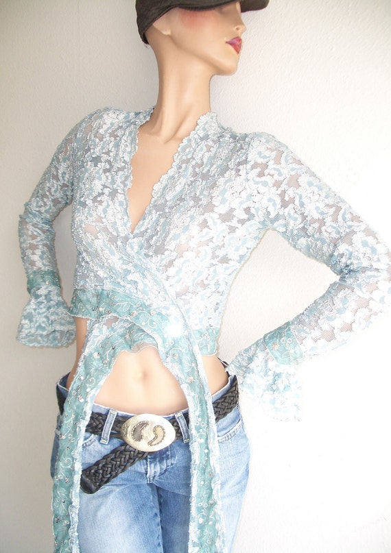 Blue Lace Jacket/Wrap