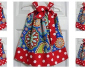 Sale Buy 4 get one FREE--Custom Made Pillowcase Dress--sizes available 4T-8 years old-Michael Miller Gypsy bandana
