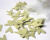 fancy hearts - pale green - confetti