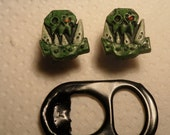 Orc icon stud earrings (green)