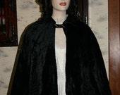 """Victorian Cape Antique Black Velvet Opera Cape """"Museum Quality"""""""