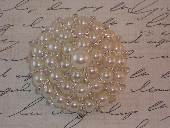 Ivory Pearl Bridal Brooch