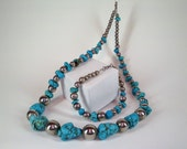 Hand-crafted Necklace - Turquoise Vintage