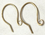 5 Pair Antiqued Brass Small and Short Fish Hook Ear Wires