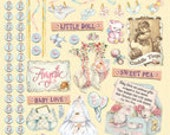 Sale Baby Girl Stickers Heartwarming Vintage HVS902