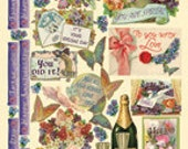 Best Wishes Heartwarming Vintage Stickers HVS904